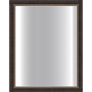 Dark Scratched Bronze Framed Glass Mirror
