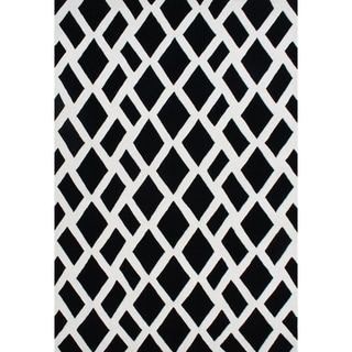 Alliyah Hand Made Black New Zealand Blend Wool Rug (8 x 10)