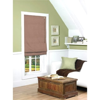 Coffee Thermal Fabric Roman Shade