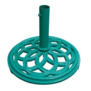 Green Cast Iron Umbrella Base