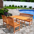 26 Shorea Rectangular Curvy Outdoor Dining Set