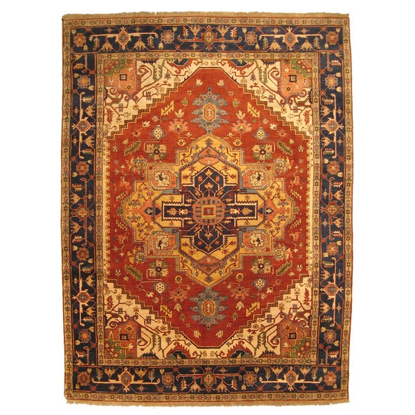 12 10 X 14 11 Persian Karajeh Hand Knotted Wool: EORC Hand-knotted Wool Serapi Rug (8' X 10