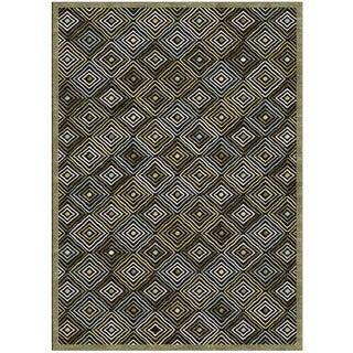 Grand Bazaar Diamond Dakar Brown Rug (7'6 x 10'6)