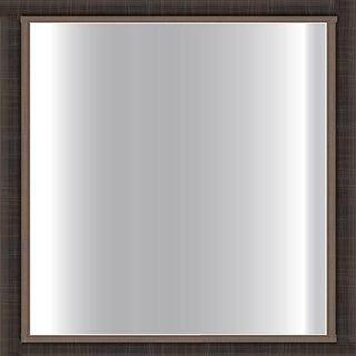 Dark Scratched Bronze Framed 24-inch Square Glass Mirror
