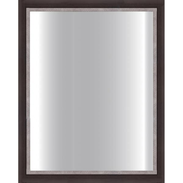 Dark Brown Framed Glass Mirror