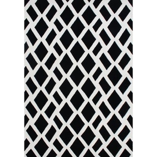 Alliyah Hand Made Black New Zealand Blend Wool Rug (5 x 8)