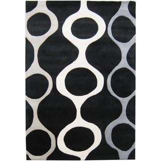 Alliyah Handmade Black New Zealand Blended Wool Rug (9' x 12')