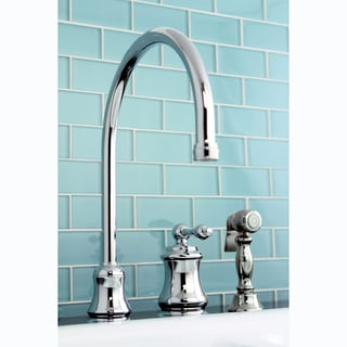 High Spout Side Sprayer Chrome Kitchen Faucet