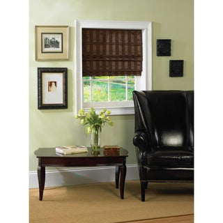 Cordless Fabric Cocoa Brown Roman Shade