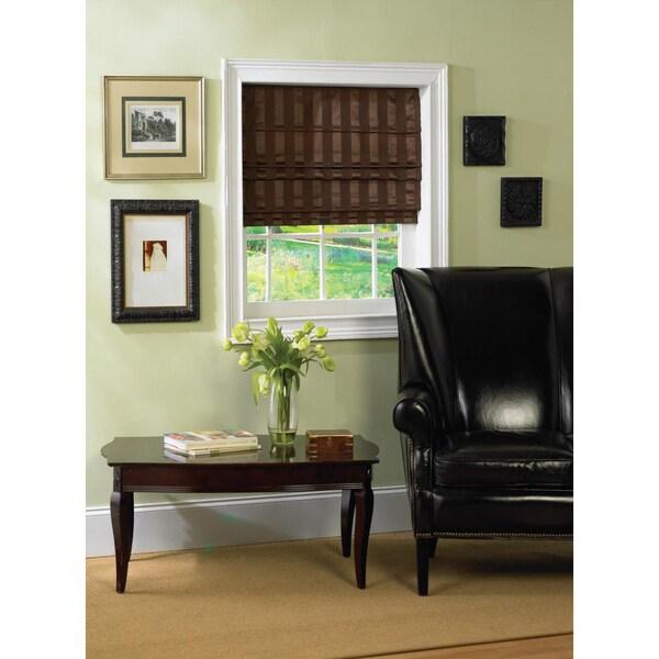 Cordless Fabric Cocoa Brown Roman Shade