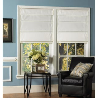 Snow White Thermal Fabric Roman Shades
