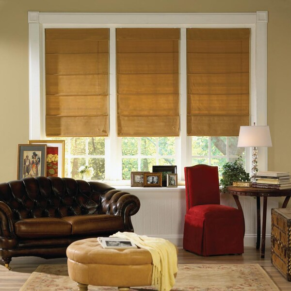 Gold Dust Thermal Fabric Roman Shades