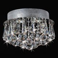 Chrome Flush Mount Drop Crystal Chandelier