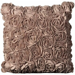 Mina Victory Felt Floral Pink 20 x 20-inch Decorative Pillow by Nourison