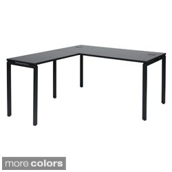 Prado Laminate/ Metal L-Shape Desk