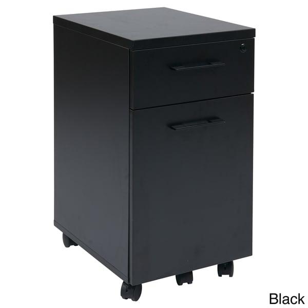 Prado Mobile Laminate File Cabinet with Metal Drawer Pulls and Hidden Box Drawer