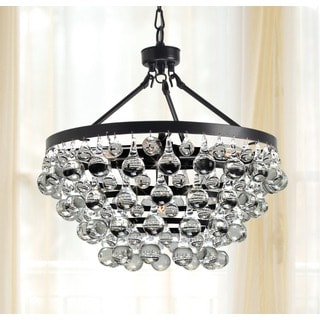 Antique Black 5-light Crystal Drop Chandelier