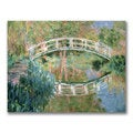 Claude Monet 'The Japanese Bridge Giverny' Canvas Art