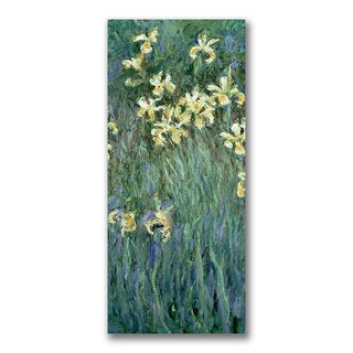 Claude Monet 'The Yellow Irises' Canvas Art