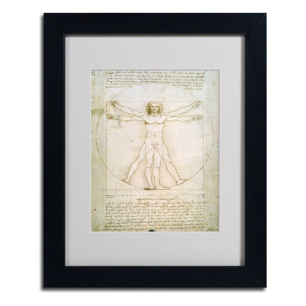Leonardo da Vinci 'The Proportions of the Human Figure' Museum Masters Framed Matted Art