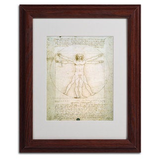 Leonardo da Vinci 'The Proportions of the Human Figure' Framed Matted Art