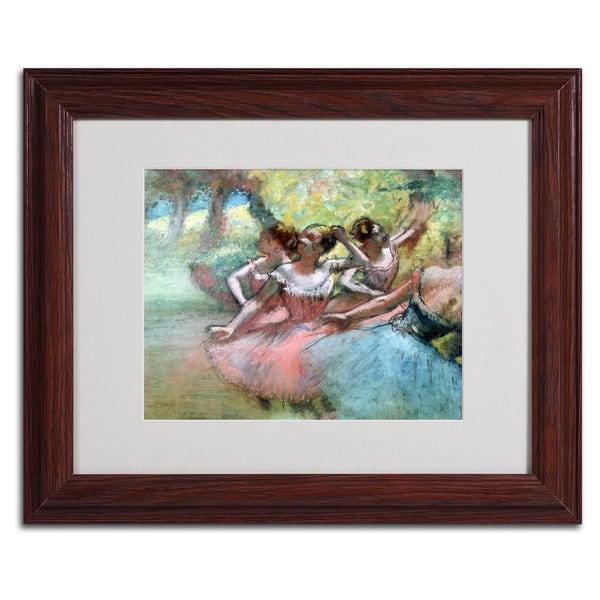 Edgar Degas 'Four Ballerinas on the Stage' Framed Matted Art
