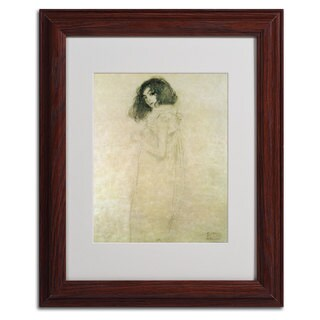 Gustav Klimt 'Portrait of a Young Woman' Framed Matted Art