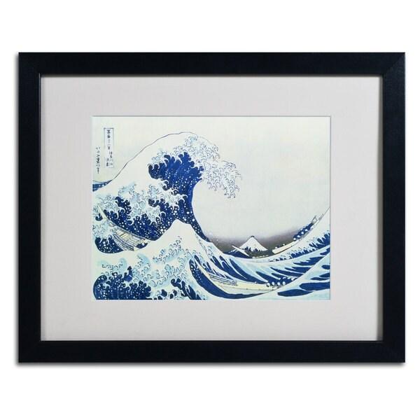 Katsushika Hokusai 'The Great Kanagawa Wave' Framed Matted Giclee Print Art