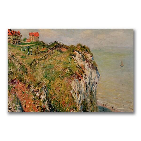 Claude Monet 'Cliff at Dieppe 1882' Canvas Art