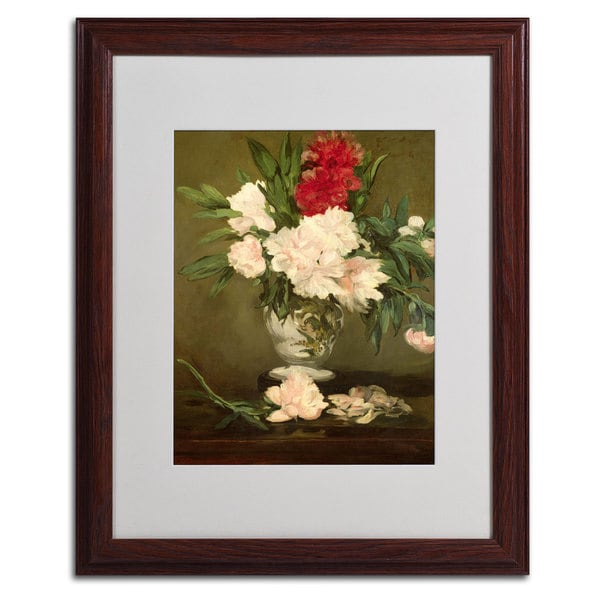 Edouard Manet 'Vase of Peonies' Framed Matted Art 10956253