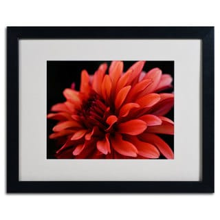 Kurt Shaffer 'Red Dahlia' Framed Giclee Print Matted Art