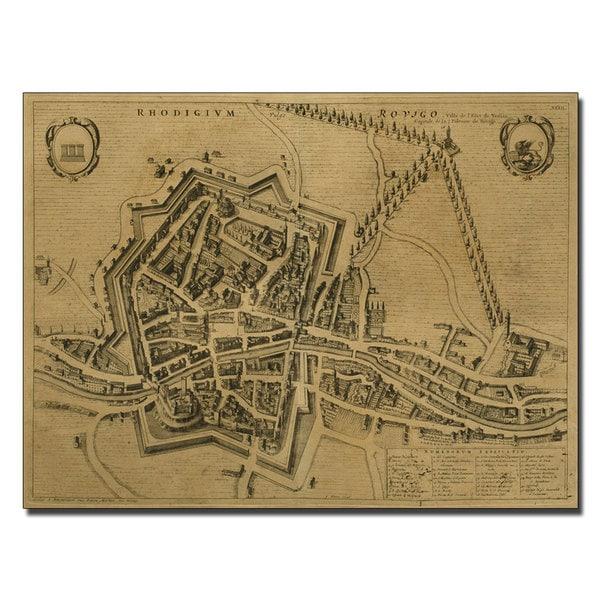 Pierre Mortier 'Map of Rovigo, 1704' Canvas Art
