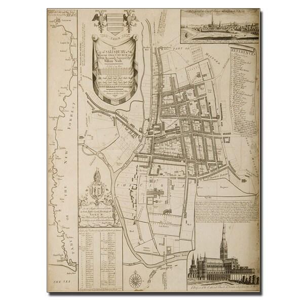 William Nash 'Map of Salisbury, 1751' Canvas Art