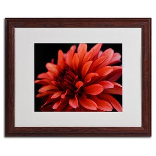 Kurt Shaffer 'Red Dahlia' Framed Matted Art