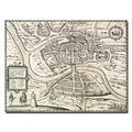 Braun, Hogenberg 'Map of Bristol, 1581' Canvas Art