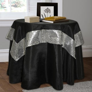 Lush Decor Night Sky 2-piece Black/ Silver Table Cloth Set