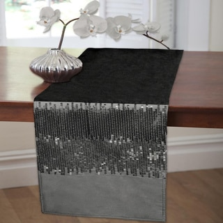 Lush Decor Night Sky Black/ Grey Table Runner