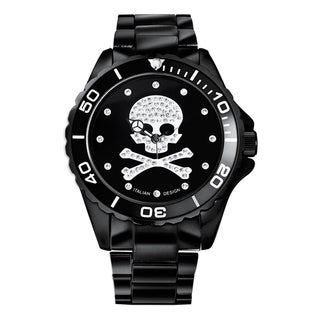 Haurex Italy Women's Crystal Skull Aluminum Watch