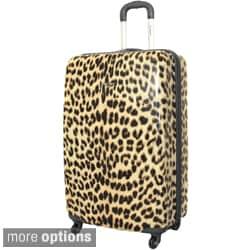 Rockland Designer Leopard 28-inch Lightweight Hardside Spinner Upright Suitcase