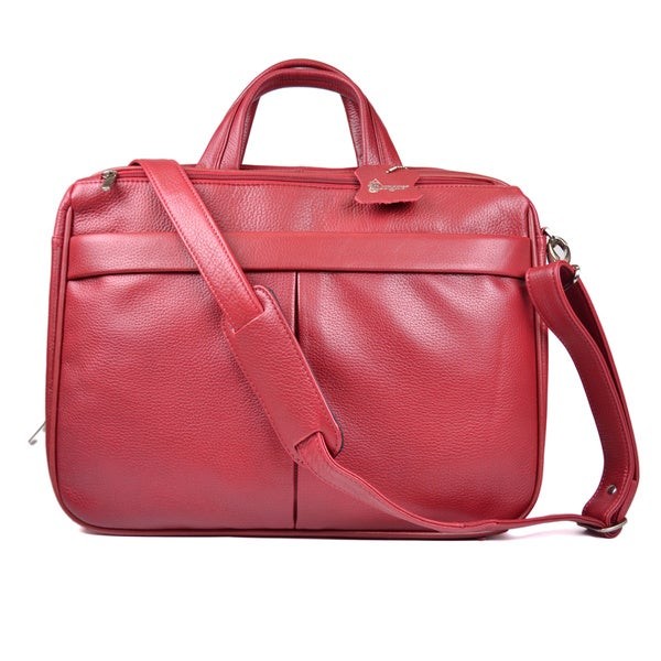 Royce Red Leather 15-inch Laptop Breif