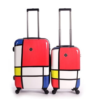 Neocover Primary Color Block 2-piece Hardside Spinner Luggage Set