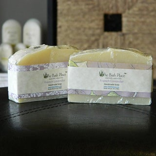 The Bath Place French Lavender Handcrafted Essential Oil Soap Duo