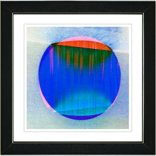 Studio Works Modern 'Sol - Blue' Framed Print
