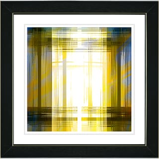 Studio Works Modern 'Malawali Strait - Yellow' Framed Print