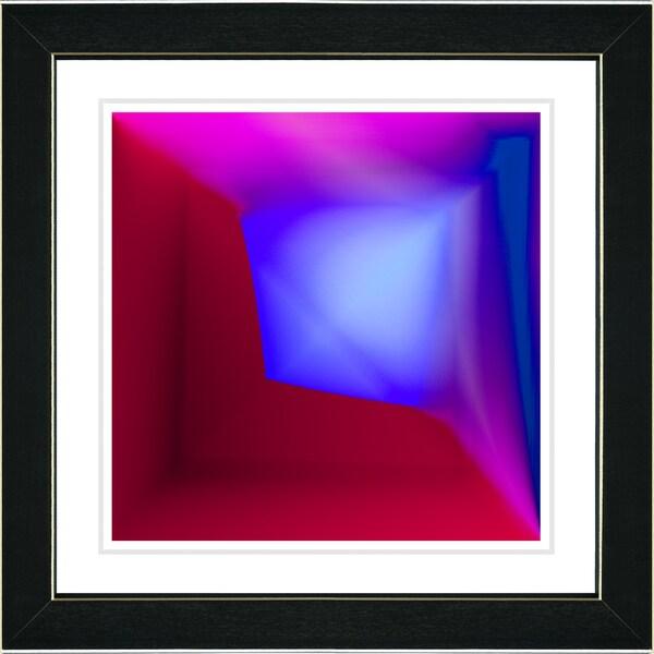 Studio Works Modern 'Mind Box - Blue' Framed Print