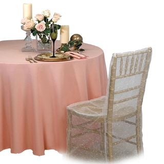 Round 90-inch Tablecloths (Pack of 5)