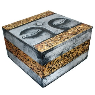 Gold and Silver 'Buddha Eyes' Box (Indonesia)