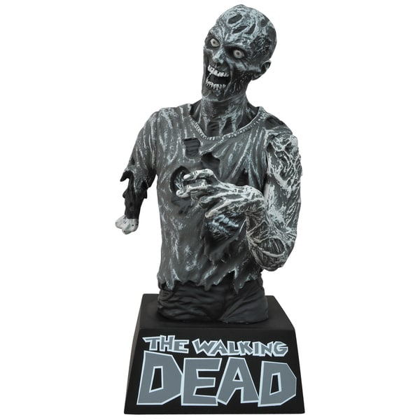 Diamond Select Walking Dead Black and White Zombie Bust Bank