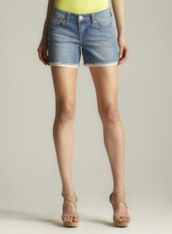 Seven7 Crochet Trim Denim Short