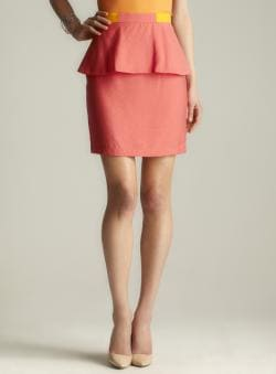 Walter Back Zipper Peplum Skirt